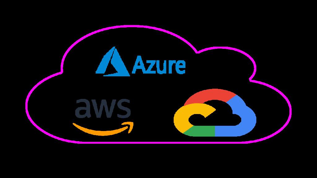 top cloud providers : Azure, AWS, Google Cloud